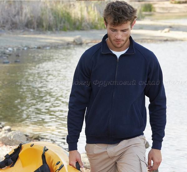 Мужская кофта свитер на замке с начесом темлая