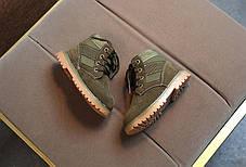 Ботинки детские демисезонные  нат мальчика из эко -замша зеленые, фото 2