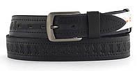 Качественный кожаный мужской ремень высокого качества MASCO 4 см Украина (103710) темно синий