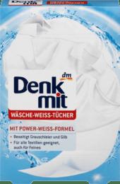 Denkmit салфетки для стирки белых вещей (20 шт)