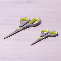 Ножницы универсальные 2 шт. из нержавеющей стали с пластиковыми ручками (14см; 21.5см)
