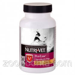 Nutri-Vet Pet Ease НУТРІ-ВЕТ АНТИ-СТРЕС заспокійливий засіб для собак, жувальні таблетки, 60 табл.