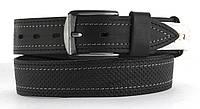 Качественный кожаный мужской ремень высокого качества MASCO 4 см Украина (103712) черный