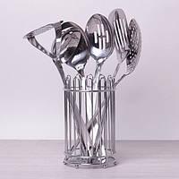 Набор кухонных принадлежностей 6 предметов в комплекте с подставкой, фото 1