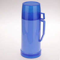 Термос 1000мл пластиковый со стеклянной колбой