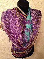 Новый 2015г.Красивый шелковый шарф 2611(цв 08)