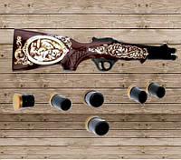 Коньячный набор Ружье , 7 предметов, штоф 1,6л