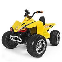 Детский двухмоторный желтый квадроцикл Bambi (M 3620EL-6)