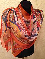 Новый 2019г.Красивый шелковый шарф 2611(цв 10)