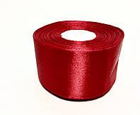 Лента атласная 5,0см / 33 метра «Насыщенный Красный»