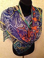 Новый 2015г.Красивый шелковый шарф 2611(цв 12)