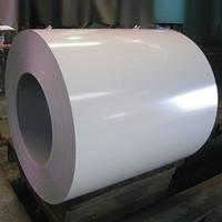 Сталь оцинкованная в рулонах 0,3-0,4*1250 мм. Белая