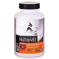 Nutri-Vet Shed Defense защита шерсти витаминный комплекс для шерсти собак с Омега-3 60 табл.