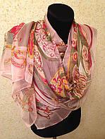 Новый 2015г.Красивый шелковый шарф 2611(цв 14)