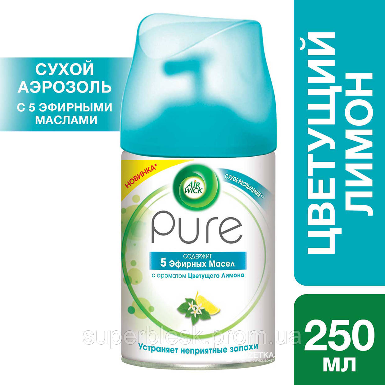Сменный аэрозольный баллон к Air Wick Pure Цветущий лимон 250 мл (4640018991189)