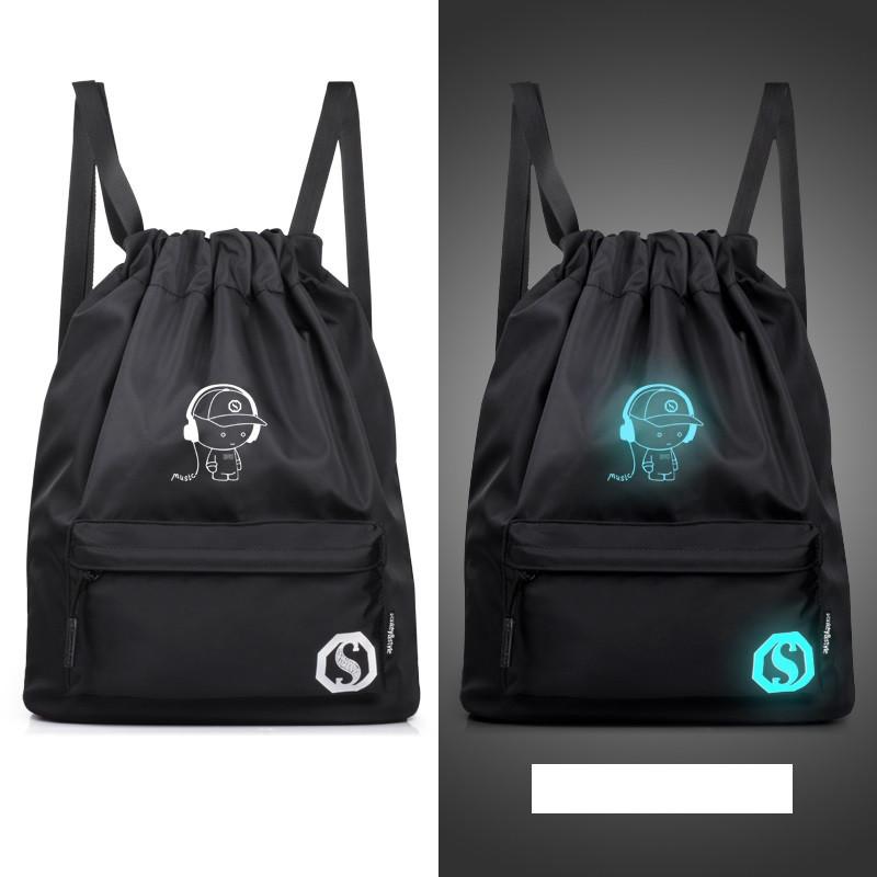 Рюкзак-мешок спортивный из водоотталкивающей ткани Music, который светится в темноте