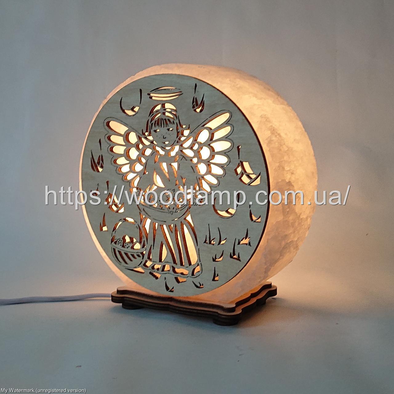 Соляная лампа круглая Ангел 3