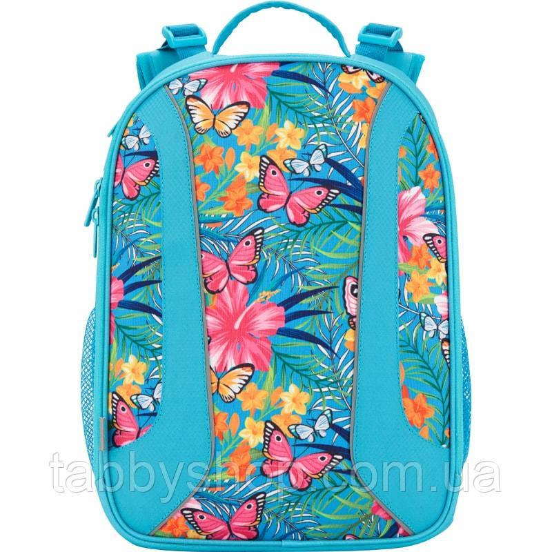 Рюкзак школьный ортопедический с жестким каркасом KITE 703 Tropical flower