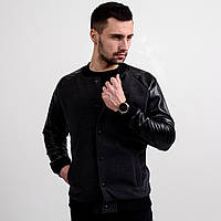 Куртка мужская черная (бомбер). Куртка чоловіча. ТОП КАЧЕСТВО!!!, фото 1