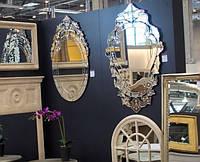 Зерало в зеркальной раме настенное для интерьера зеркальная декорация.