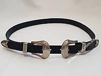 Ремень женский кожаный с двумя пряжками, ширина 25 мм., 930704