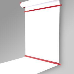 Роллер с бумагой Melmark 86см. Корпус-красный, бумага-белая 100м.