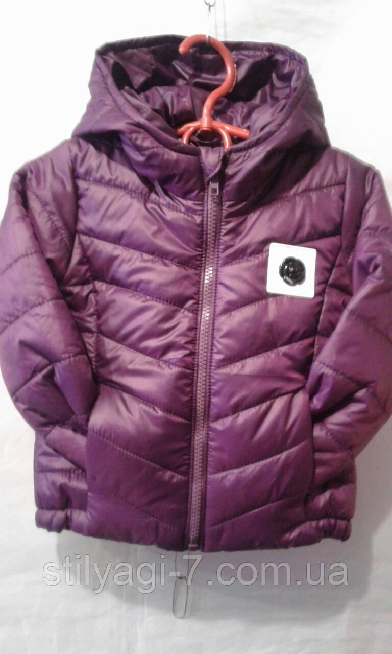 Куртка демисезонная для девочек на 2-6 лет сиреневого цвета оптом