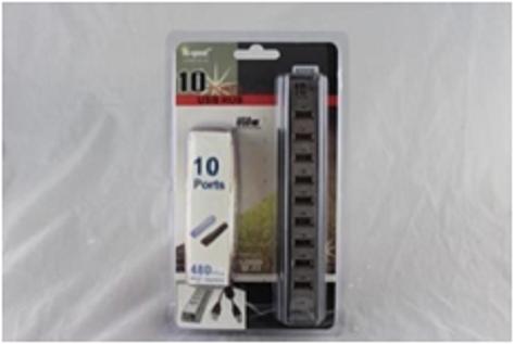 Разветвитель USB HUB 10 PORTS 220V, склад 1 шт.
