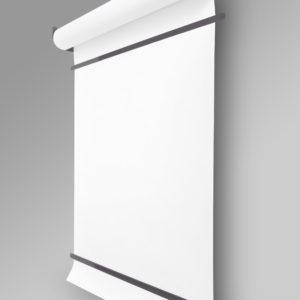 Роллер с бумагой Melmark 86см. Корпус-серый, бумага-белая 100м.