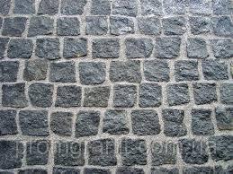 Тротуарна плитка з граніту сіра 5*5*5 колота