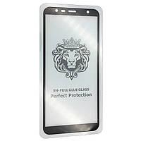 Защитное стекло DK-Case 5D купол для Samsung J4 Plus/J6 Plus (2018) (black)