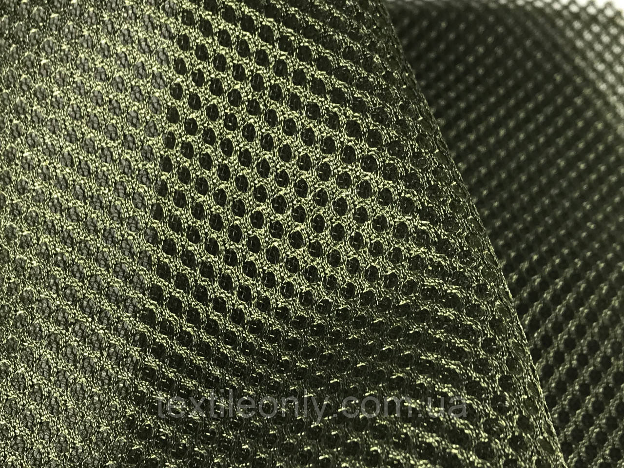 Сетка сумочно-обувная на поролоне артекс (airtex) цвет хаки