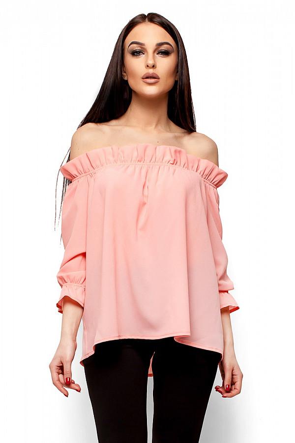 (S-M) Жіноча персикова блузка Jenn