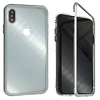 Накладка Tempered Glass Magneto Back Side для Apple iPhone XS Max (silver)
