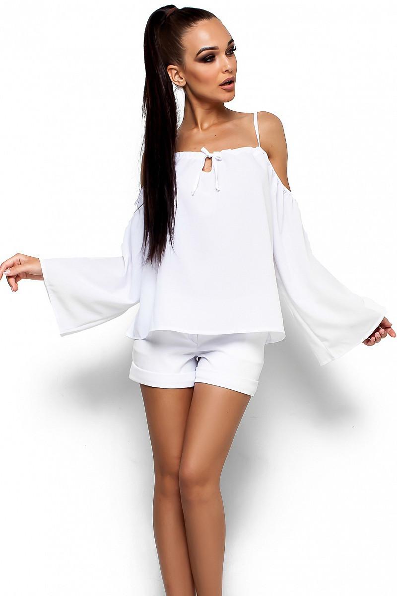 (S-M) Жіноча вільна біла блузка Yana