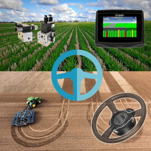 Система параллельного вождения (автопилот) на трактор ARES-836