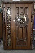 Двери уличные, PRESTIGE 1170*2050, модель 20-54, VINORIT, стеклопакеты, ковки, фрамуга, 3D фрезеровка и патина, фото 3