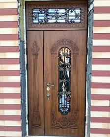 Двері вуличні, модель 15. PRESTIGE 1170*2050, VINORIT, 2 замка, ковка, склопакети, 3D фрезерування і патина, фото 2