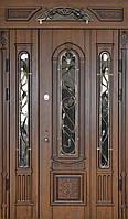 Двері вуличні, PRESTIGE 1170*2050, модель 20-51, полуторне, коробка 90 мм, карниз з дзеркалом