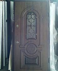 Двери уличные, PRESTIGE 1170*2050, модель 20-57,VINORIT, полуторные с ковками, объемные элементы и патина, фото 3