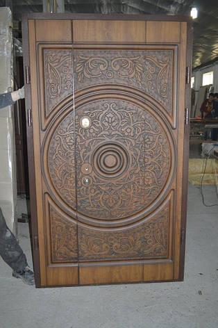 Двери уличные, модель 49 Стандар 1170*2050, металл 2мм, коробка 90мм, VINORIT, патина, художеств. фрезеровка, фото 2