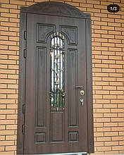 Двери уличные, модель 58 Премиум 970*2050, металл 2мм, коробка 110мм, VINORIT, накладки 16мм, MOTTURA, ковка, фото 2