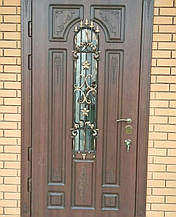 Двери уличные, модель 58 Премиум 970*2050, металл 2мм, коробка 110мм, VINORIT, накладки 16мм, MOTTURA, ковка, фото 3