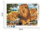 Алмазная вышивка семья львов на отдыхе 40х30 см, фото 2