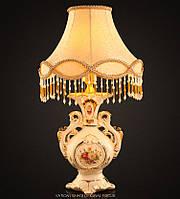 Дизайнерская настольная лампа Fan Saqi из керамики с абажуром.