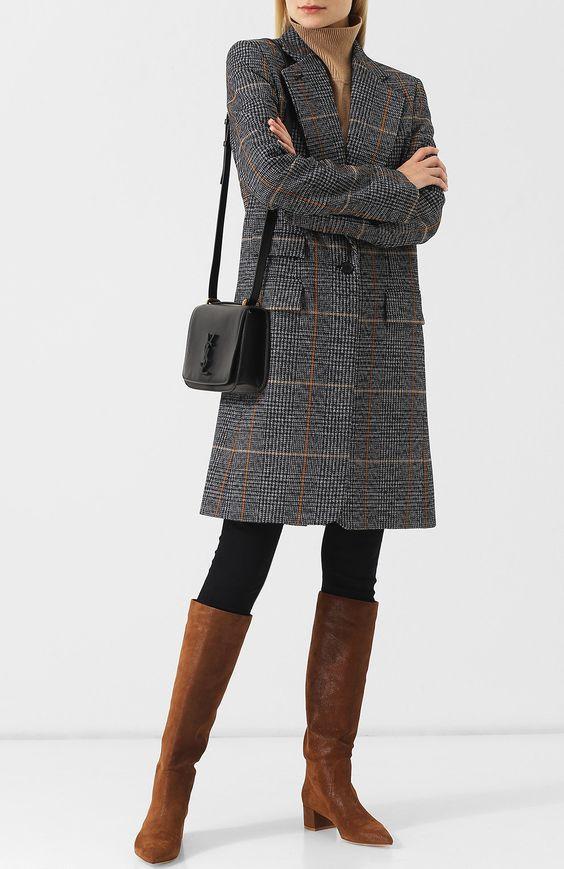 Модели женских сапог под длинное пальто