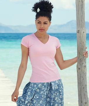 Женская футболка V-образный вырез