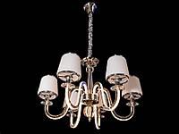 Люстра классическая с светодиодной подсветкой  рожков серебро/золото 8343-6, фото 1