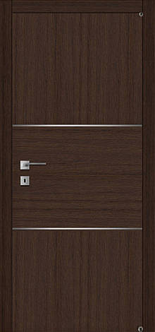 Двери FUSION F-7 Полотно+коробка+2 к-та наличников+добор 90мм, шпон, фото 2