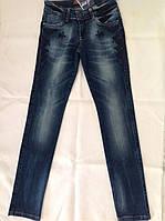 Модные подростковые джинсы для девочек 164,170 роста Синяя вышивка